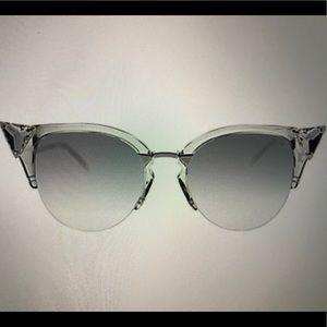NWT FENDI Crystal Cat Eye Sunglasses 52 mm